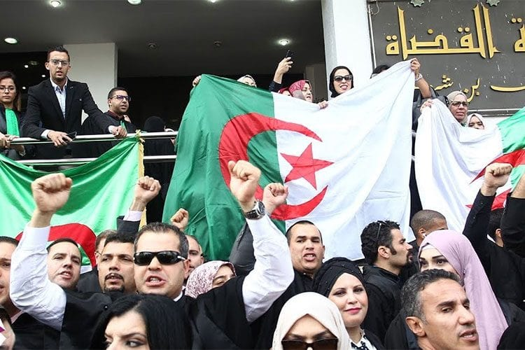 Thousands of Algerians take part in an anti-government demonstration against Bouteflika regime figures in Algiers, Algeria on 5 November 2019