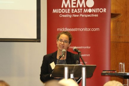 Dr Sharri Plonski at MEMO and EuroPal Forum conference The Palestine Question in Europe on 23 November 2019