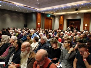 A full conference hall at MEMO and EuroPal Forum conference The Palestine Question in Europe on 23 November 2019