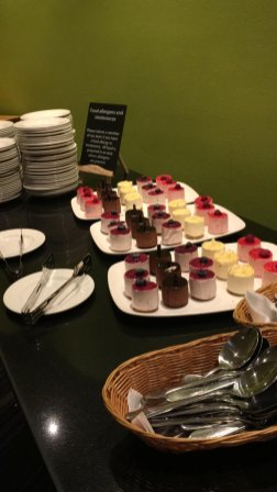 Assorted cheesecakes at MEMO and EuroPal Forum conference The Palestine Question in Europe on 23 November 2019