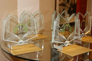 Awards seen at the 8th annual Palestinian Book Awards in London, UK, on 1 November 2019 [Middle East Monitor]