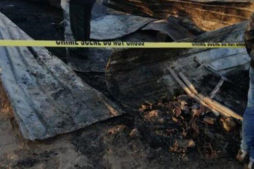 A fire bunt down makeshift homes in Amman, Jordan on 3 December 2019 [Twitter]