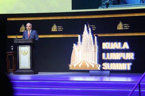 The closing ceremony of Kuala Lumpur Summit 2019 on December 21, 2019 in Kuala Lumpur, Malaysia [Farid Bin Tajuddin/Anadolu Agency]