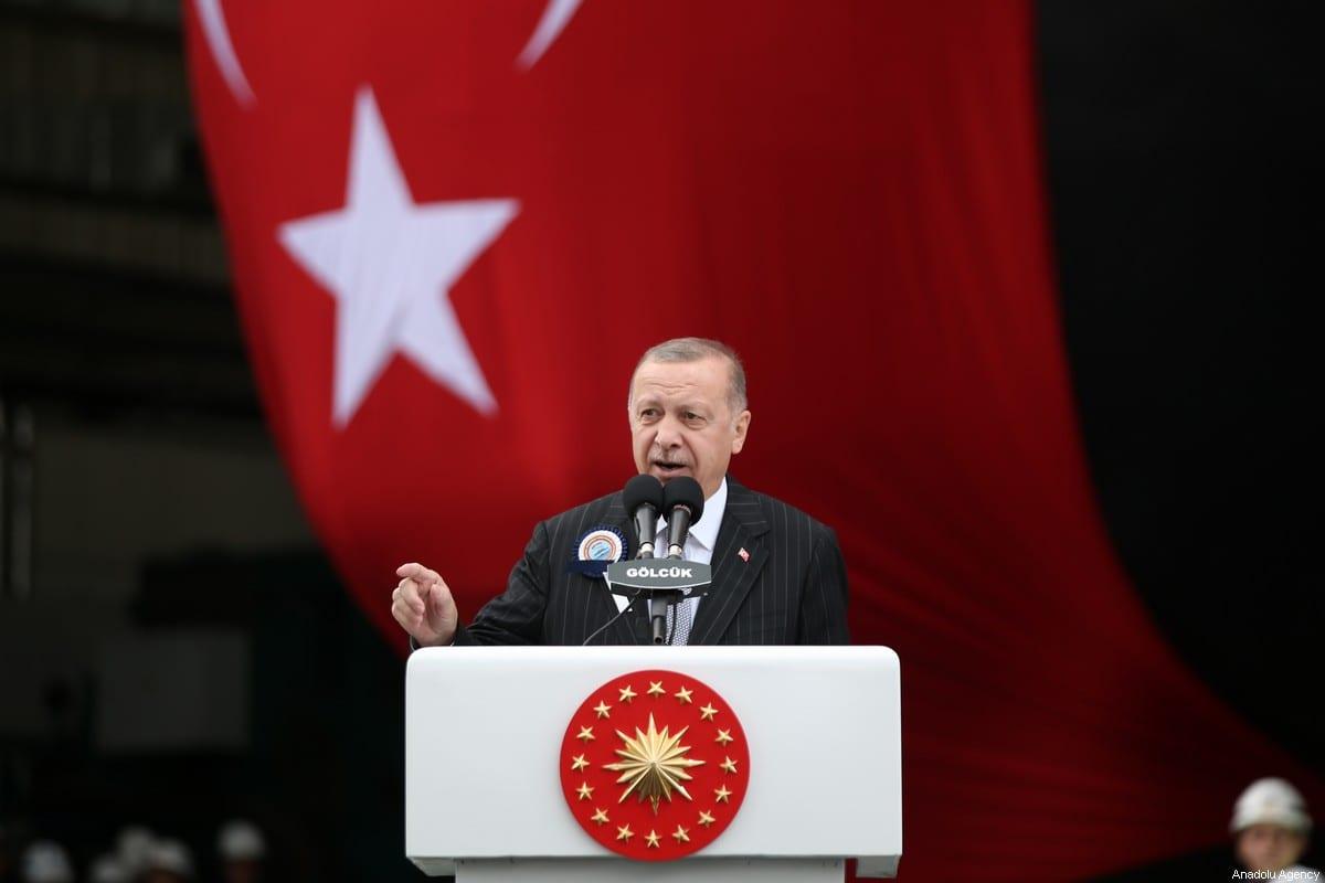 President of Turkey Recep Tayyip Erdogan in Kocaeli, Turkey on 22 December 2019 [Emrah Yorulmaz/Anadolu Agency]