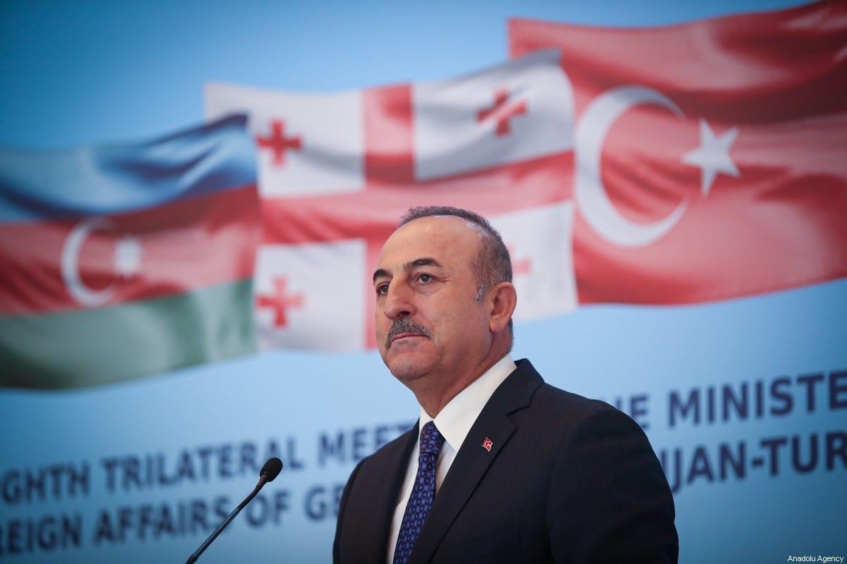 Foreign Minister of Turkey Mevlut Cavusoglu in Tbilisi, Georgia on 23 December 2019. [Cem Özdel - Anadolu Agency]