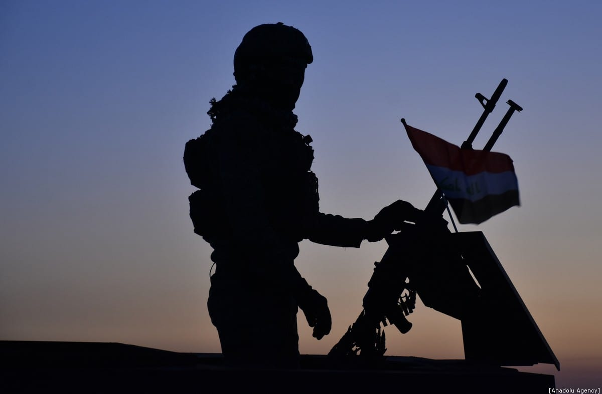 Iraqi soldiers conduct a military operation against Daesh in Kirkuk, Iraq on 29 December 2019 [Alı Makram Ghareeb/Anadolu Agency]