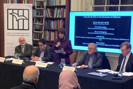 The ICC prosecutor slammed for delaying investigation into Israel's crimes against Palestinians at an AOHR UK meeting [AOHR UK]