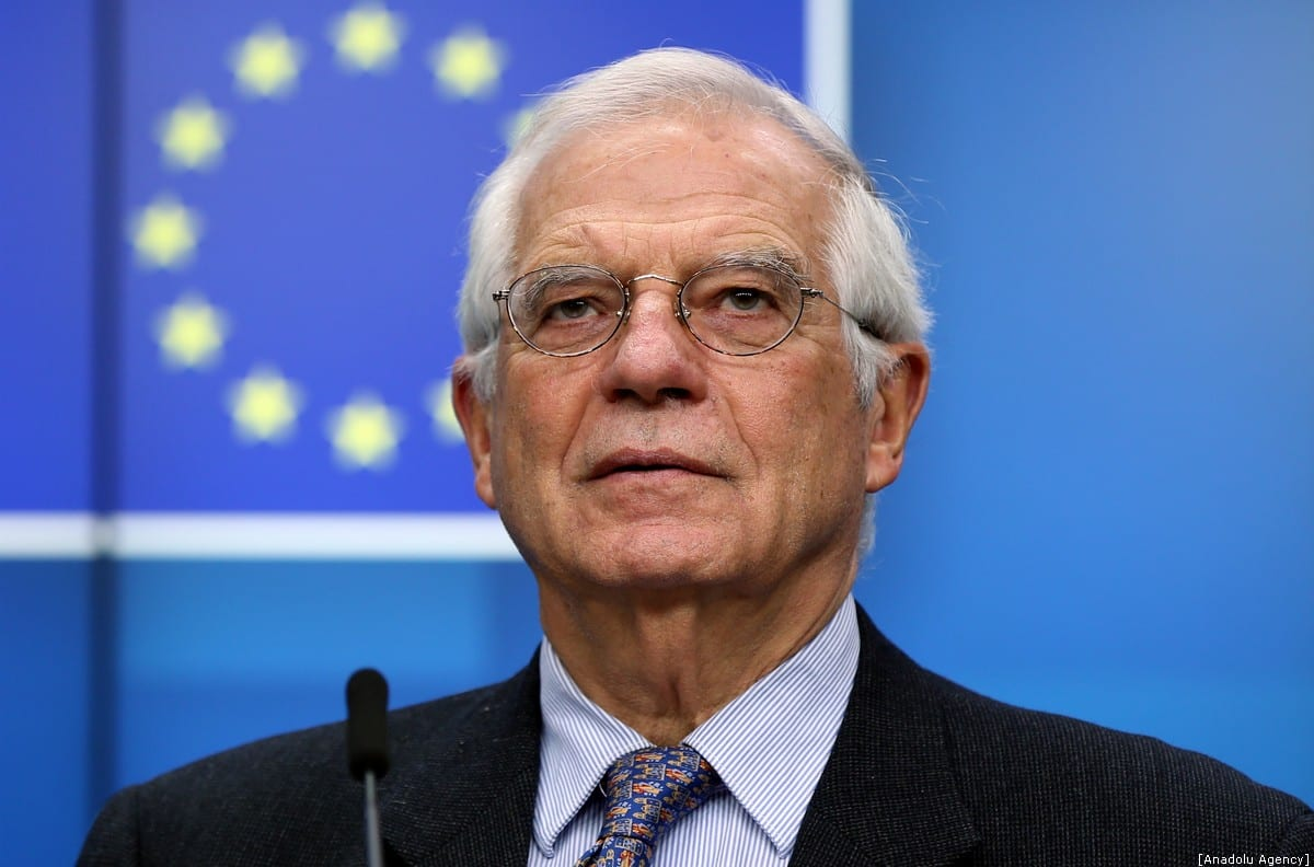EU High Representative for Foreign Affairs and Security Policy Josep Borrell Fontelles holds a press conference in Brussels, Belgium on December 09, 2019 [Dursun Aydemir / Anadolu Agency]