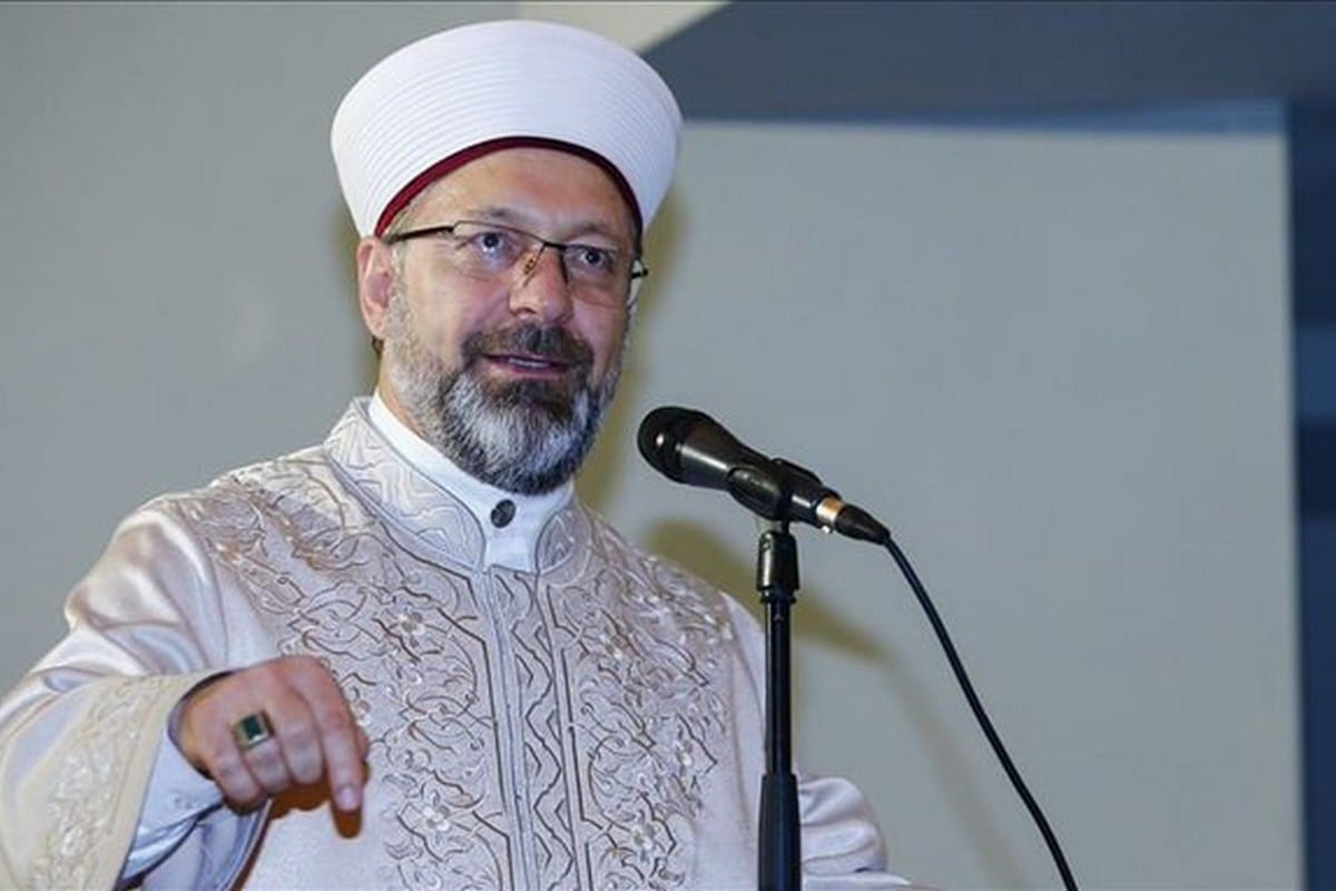 Ali Erbas, head of Turkey's top religious authority, the Religious Affairs Directorate on 11 December 2019 [Twitter]