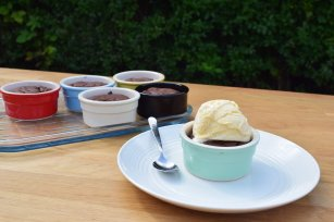 You've been served: Molten chocolate, coffee and cardamom pots