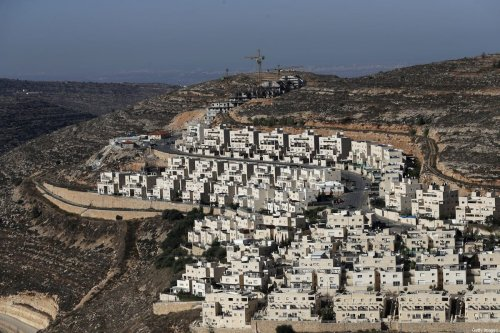 Israeli settlement of Givat Zeev, near the Palestinian city of Ramallah in the occupied West Bank, on 19 November 2019 [AHMAD GHARABLI/AFP/Getty Images]