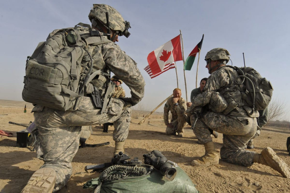US and Canadian soldiers seen during a missing in Afghanistan [undated / file]