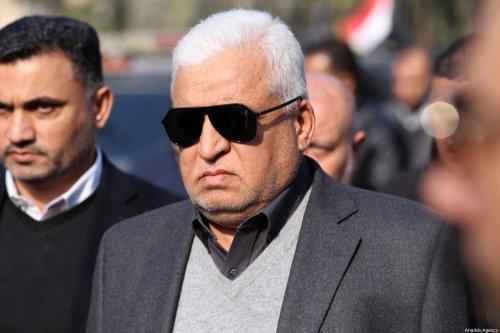 Advisor of Iraqi National Security Falih Faisal Fahad Alfayyadh attends the funeral ceremony of Qasem Soleimani, commander of the Iranian Revolutionary Guards' Quds Forces in Baghdad, Iraq on 4 January 2020 [Murtadha Sudani / Anadolu Agency]