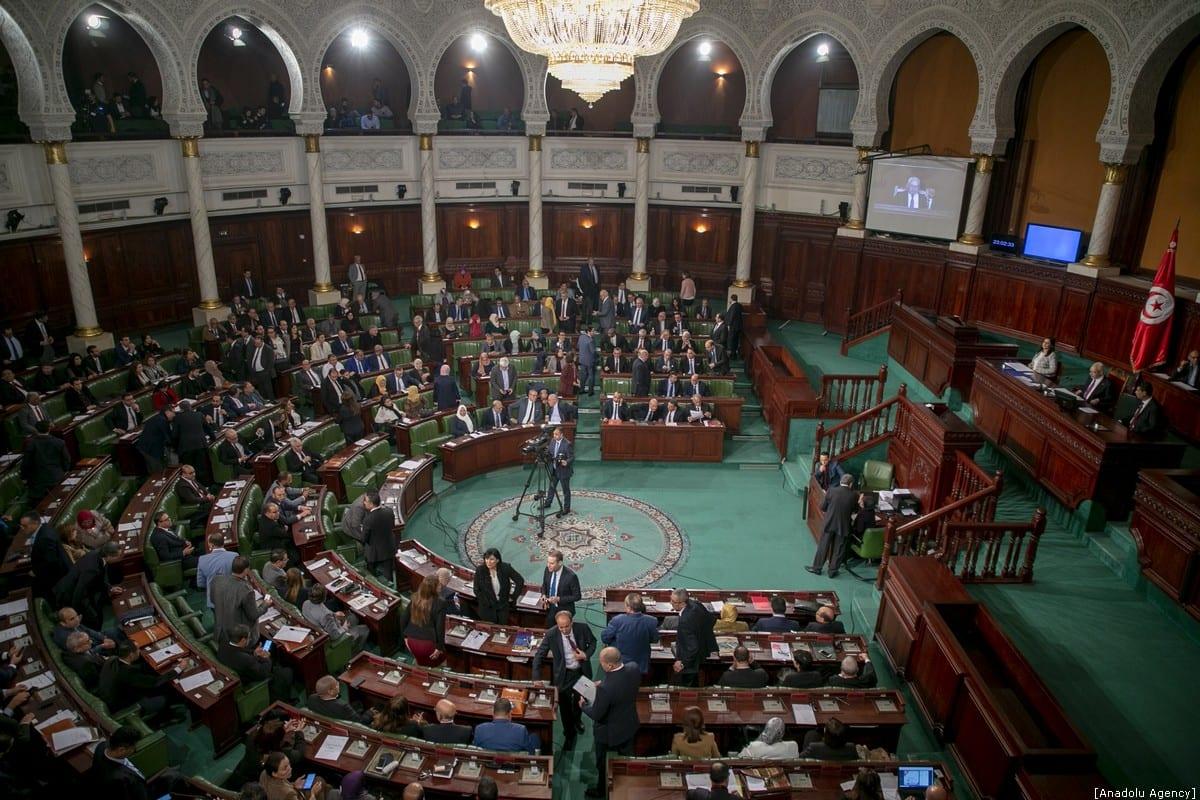 Tunisian parliament on 11 January 2020 [Yassine Gaidi/Anadolu Agency]