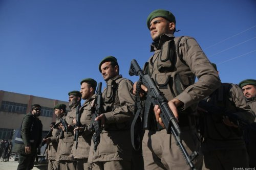 Syrian forces in Tal Abyad, Syria on 12 January 2020 [Bekir Kasım/Anadolu Agency]