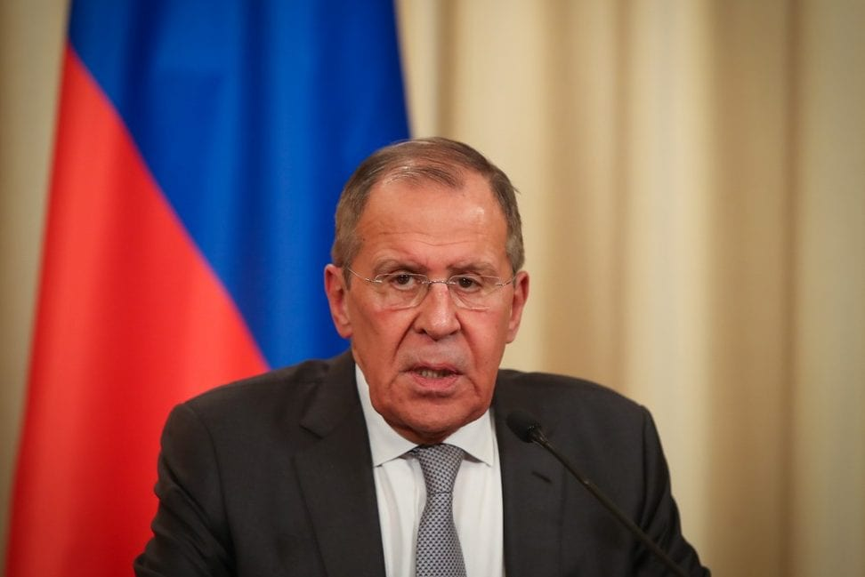 Russian Foreign Minister Sergey Lavrov on 13 January 2020 in Moscow, Russia [Cem Özdel/Anadolu Agency]
