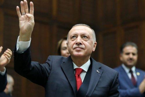 Turkish President and leader of Justice and Development (AK) Party Recep Tayyip Erdogan in Ankara, Turkey on 14 January 2020 [Arda Küçükkaya/Anadolu Agency]