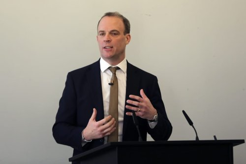 British Foreign Secretary Dominic Raab in London, UK on 29 January 2020 [İlyas Tayfun Salcı/Anadolu Agency]