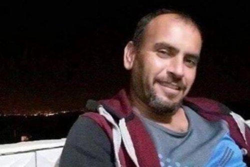 Ahmed Zahran, a Palestinian prisoner on hunger strike on 15 January 2020