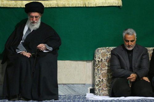 Ayatollah Sayyed Ali Khamenei And Qasem Soleimani on 27 March 2015 [Wikipedia]