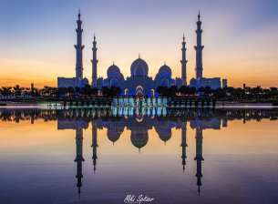 Image of Sheikh Zayed Mosque taken by Israeli photographer Michael Miki Spitzer in the United Arab Emirates [Facebook]