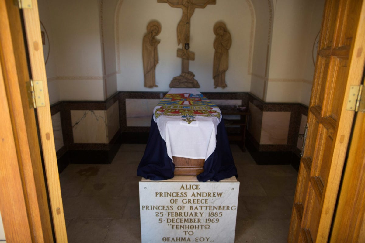 The tomb of Princess Alice of Battenberg, inside the Russian Orthodox church of St. Mary Magdalene on the Mount of Olives on, June 25, 2018 in Jerusalem, Israel [Lior Mizrahi/Getty Images]