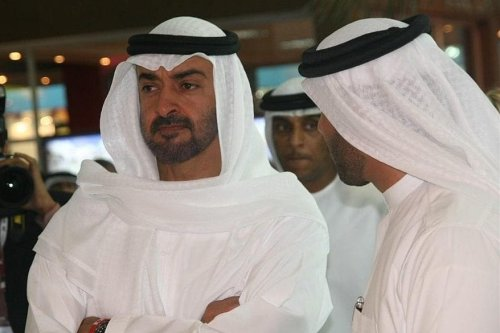 Sheikh Mohammed bin Zayed Al Nahyan at the Cityscape Abu Dhabi on 13 May 2008. [Wikipedia]