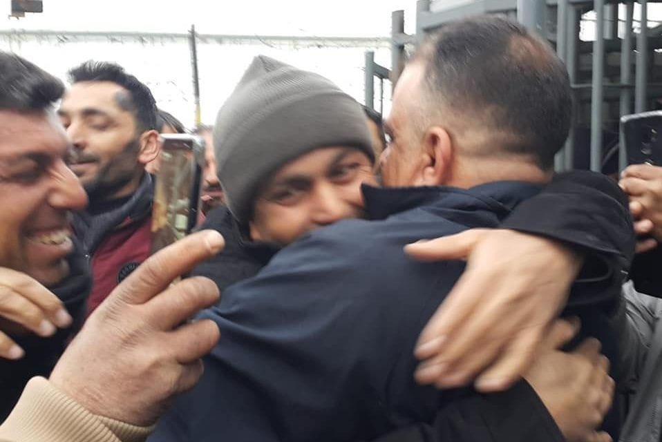 The Israeli occupation authorities released the prisoner Hani Tawfiq Abu Hatab from the village of Anin, west of Jenin, after spending 17 and a half years in the Israeli occupation prisons, on 9 . January 2020 [Twitter]