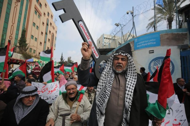 Palestinians in Gaza hold sit-in against US 'peace deal' on 20 February 2020, in Gaza [Mohammed Asad-Middle East Monitor]