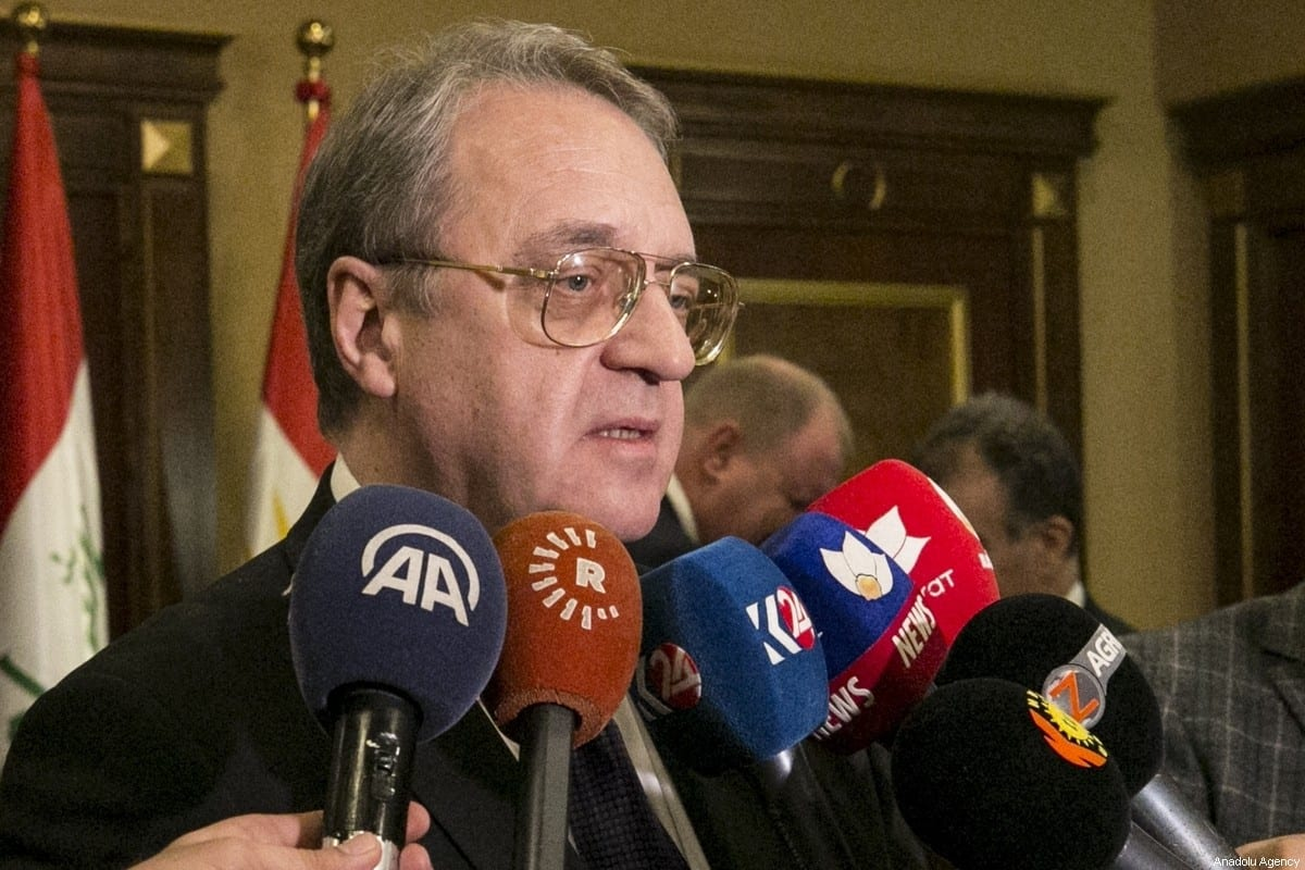 Russian President Vladimir Putin's Special Envoy for the Middle East Mikhail Bogdanov in Erbil, Iraq on 30 January 2019 [Ahsan Mohammed Ahmed Ahmed/Anadolu Agency]