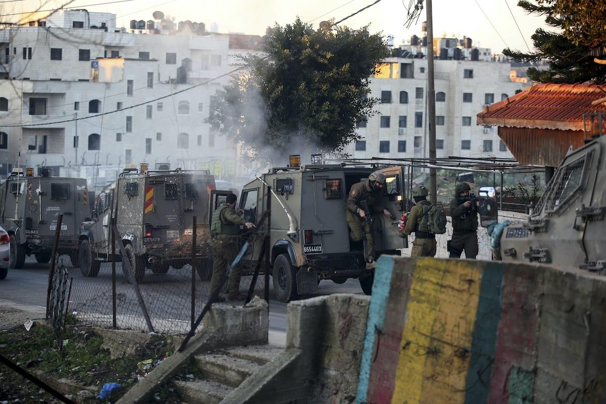 Israeli forces raid Umm al-Sharayet area in Ramallah, West Bank on 5 February 2020. [İssam Rimawi - Anadolu Agency]