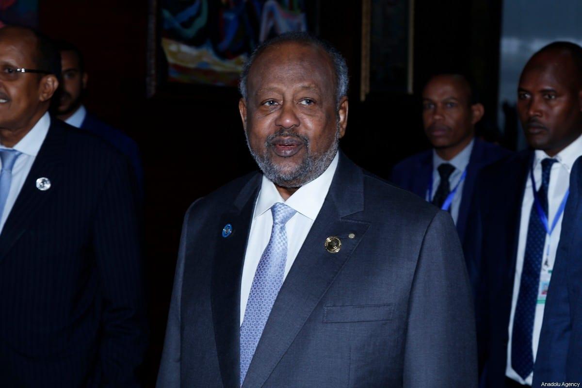 President of Djibouti Ismail Omar Guelleh in Addis Ababa, Ethiopia on 10 February 2020 [Mınasse Wondımu Haılu/Anadolu Agency]