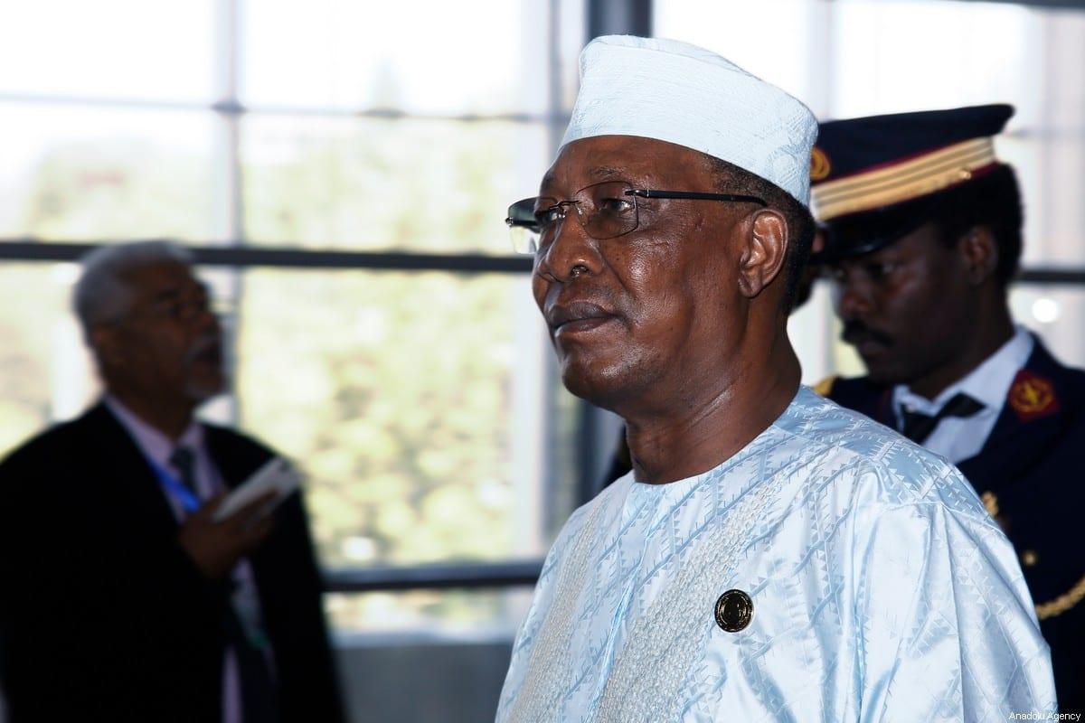 Late President of Chad Idriss Deby on February 10, 2020 [Mınasse Wondımu Haılu/Anadolu Agency]