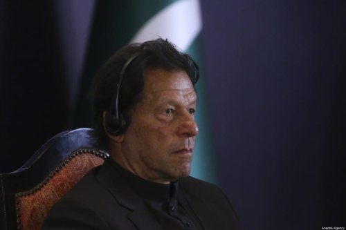 Prime Minister of Imran Khan in Islamabad, Pakistan on February 14, 2020 [Erçin Top/Anadolu Agency]