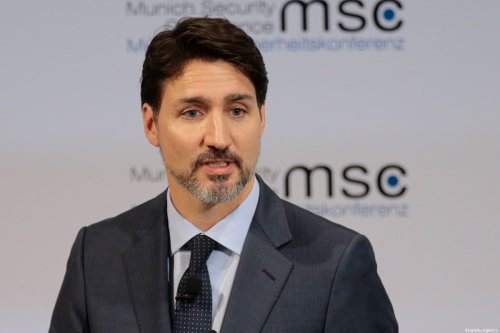Prime Minister of Canada Justin Trudeau attends the 56th Munich Security Conference at Bayerischer Hof Hotel in Munich, Germany on February 14, 2020 [Abdulhamid Hoşbaş - Anadolu Agency]