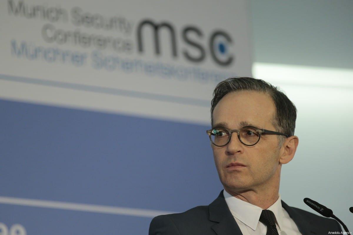 German Foreign Minister Heiko Maas in Munich, Germany on 16 February 2020 [Abdulhamid Hoşbaş/Anadolu Agency]