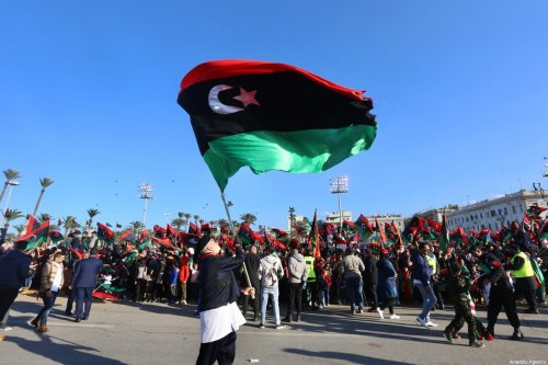 People gather at The Martyrs' Square to celebrate the 9th anniversary of Libyans' 17 February Revolution in Tripoli, Libya on February 17, 2020 [Hazem Turkia / Anadolu Agency]