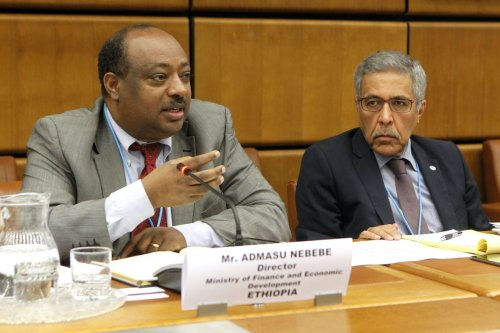Ethiopia's Minister of State for Finance and Economic Cooperation, Admasu Nebebe in Vienna in November 2015. [Flickr]