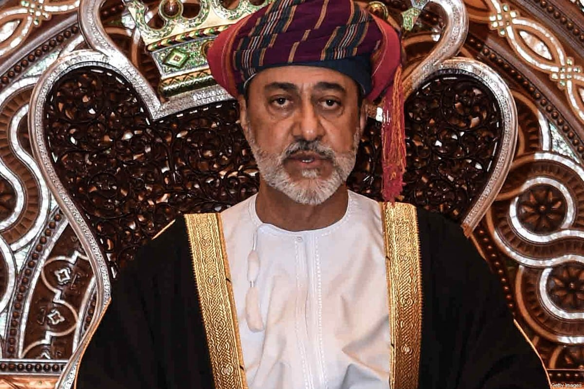Oman's Sultan Haitham bin Tariq, seen at his swearing in ceremony as Oman's new leader, on January 11, 2020 [-/AFP via Getty Images]