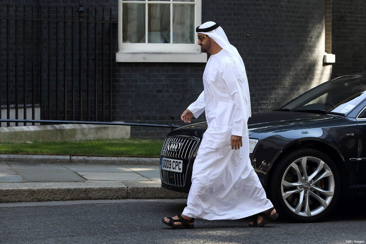 Crown Prince of Abu Dhabi, Mohammed bin Zayed Al Nahyan arrives to meet with Prime Minister, David Cameron at Downing Street on 15 July 2013 in London, England. [Jordan Mansfield/Getty Images]
