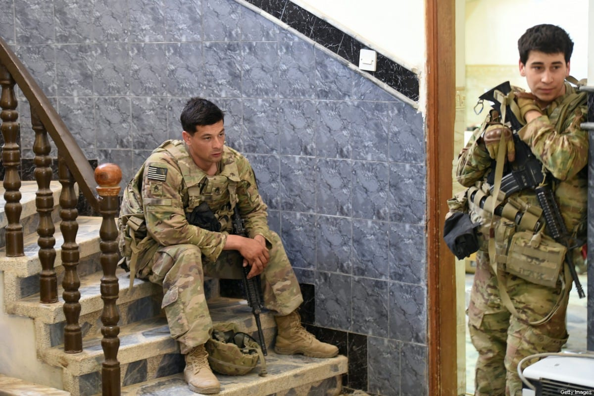 US soldiers in Iraq [MOHAMED EL-SHAHED/AFP via Getty Images]