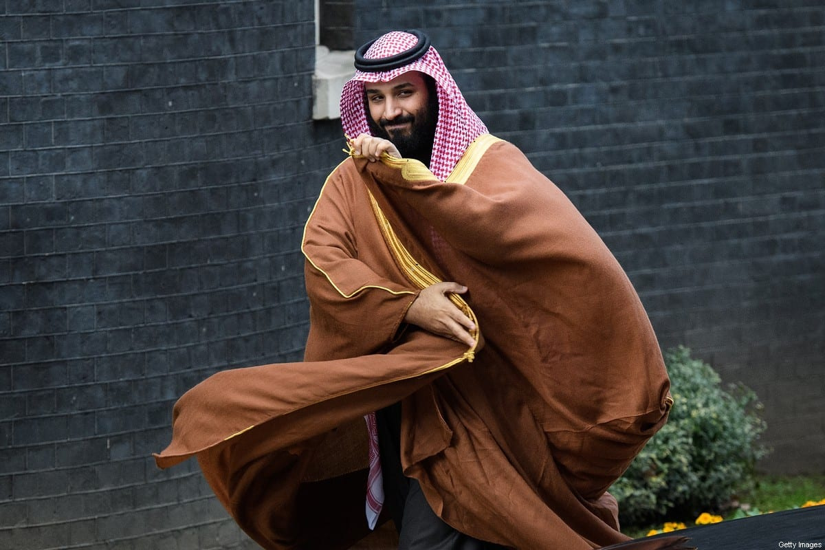 Saudi Crown Prince Mohammed bin Salman arrives for a meeting with British Prime Minister Theresa May (not pictured) in number 10 Downing Street on March 7, 2018 in London, England [Leon Neal/Getty Images]