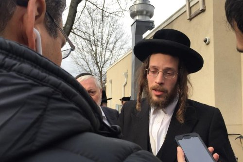 Josef Gluck, an Orthodox Jewish man, prevented a machete-wielding man from causing further harm during a Hanukkah celebration at a rabbi's home in New York, US, 24 February 2020 [Twitter]