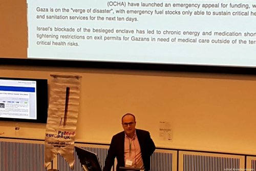 Palestinian medical workers in the UK took part in the 2nd Palestinian Physicians Association in Britain (PALMED) in Manchester, UK on 22 February 2020