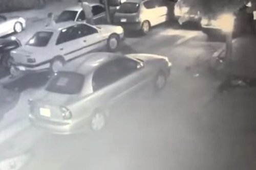 CCTV footage captured an Egyptian man shooting his fiancée in Egypt, 6 February 2020