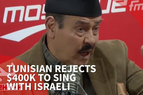 Thumbnail - Tunisian rejects $400,000 to sing with Israeli