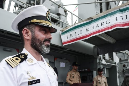 Iranian navy stand on the Kharg ship at Tanjung Priok port in Jakarta, Indonesia on 27 February 2020. [Anton Raharjo - Anadolu Agency]