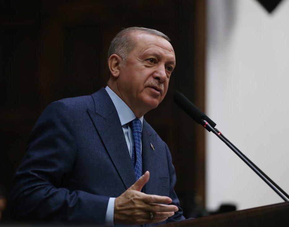 President of Turkey and in Ankara, Turkey on 11 March 2020 [Murat Kula/Anadolu Agency]
