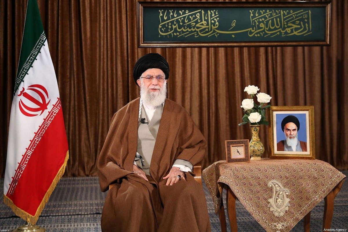 Iranian Supreme Leader Ali Khamenei on 22 March, 2020 in Tehran, Iran [Iranian Supreme Leader Press Office/Handout/Anadolu Agency]