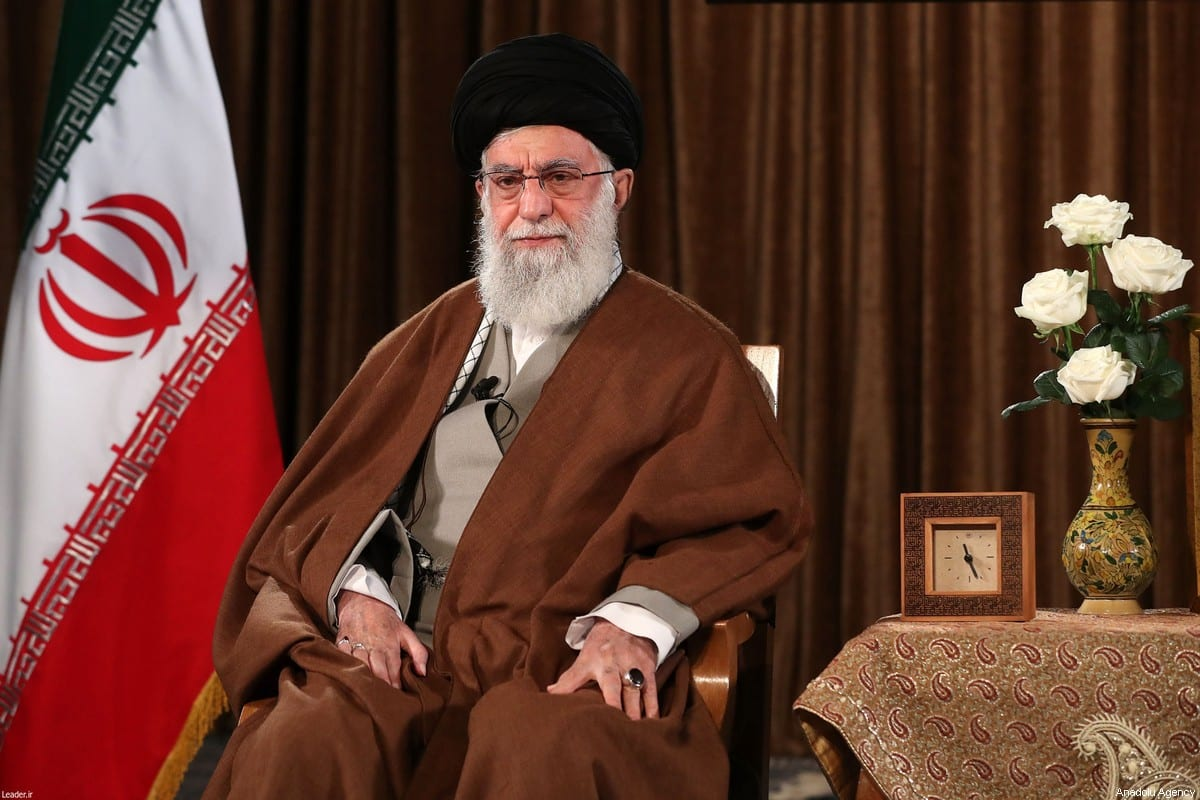 Iranian Supreme Leader Ali Khamenei on 22 March 2020 in Tehran, Iran. [Iranian Supreme Leader Press Office / Handout - Anadolu Agency]